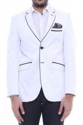 Tek Düğme Yazlık Beyaz Ceket