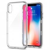Iphone X Kılıf, Spigen Neo Hybrid Crystal Satin Silver