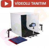 ışıklı Ürün Çekim Çadırı 60x60cm Mini Stüdyo (Çadı...