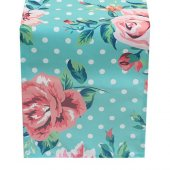 Cushion Design Flower Turkuaz Runner