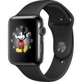 Apple Watch Series 2 42 Mm Uzay Siyahı Paslanmaz Çelik Kasa Siyah