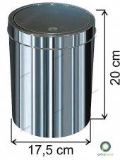 Dokunmatik Kapaklı 3 Lt Paslanmaz Çöp Kovası Arı Metal
