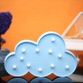 Bulut Tasarımlı Mavi Renkli Ledli Gece Lambası