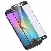 Samsung Galaxy S6 Edge 5d 3d Kavisli Tamperli Kırılmaz Cam Tam