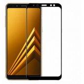 Samsung Galaxy A8 2018 5d 3d Kavisli Tamperli Kırılmaz Cam Tam