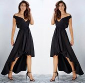 Kadın Asimetrik Kuyruklu Abiye Elbise
