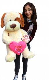 Oyuncak Peluş Köpek I Love You Kalp Yastıklı Köpek 75 Cm