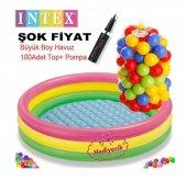 Intex Oyun Havuzu Şişme Taban 100 Adet Oyun Topu +...