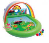 Intex Gökkuşağı Oyunlu Bebek Havuzu 155x130x84 Cm
