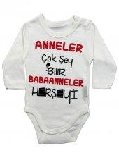 Lullaby Baby Babaanne Yazılı Bebek Badi 0 3 6 9 12 Ay