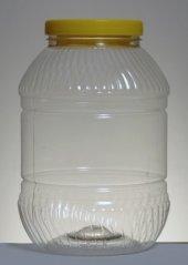 Plastik Peynir Bal Turşu Yağ Bidonu Plastik Pet 5 Lt 18 Adet