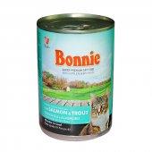 Bonnie Somonlu Ve Alabalıklı Kedi Konservesi 400 Gr