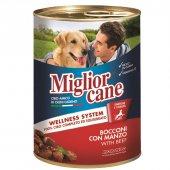 Miglior Cane Sığır Etli Biftekli Köpek Konserve Maması 405gr