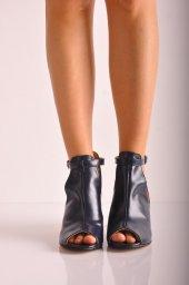 Bayan Günlük Topuklu Ayakkabı 88 Lacivert Cilt