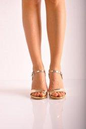 Bayan Günlük Topuklu Ayakkabı 73 Sarı Ayna