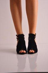 Bayan Günlük Topuklu Ayakkabı 97 Siyah Süet