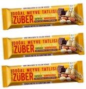Züber Yer Fıstıklı Ve Çikolatalı Doğal Meyve Tatlısı 40 Gr X 3