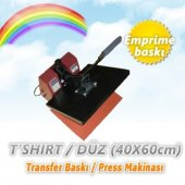 Cescesor Tshirt Transfer Baskı Makinesi Transfer Presi 40x60cm