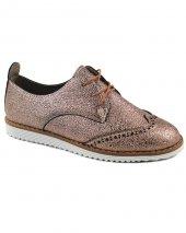 Bronz Renk Oxford Klasik Bayan Günlük Ayakkabı