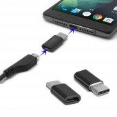 Samsung Galaxy S8 Type C Otg Mini Type C Dönüştürücü Siyah