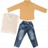Gömlek Süeter Pantolon 3 Parça Takım
