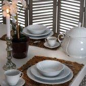 Kütahya Porselen (Mitterteich) Caprice 83 Parça Yemek Takımı Dekorsuz
