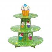 3 Katlı Karton Cupcake Standı Party Kek Standı