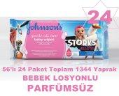 Johnsons Baby Losyonlu Islak Havlu 56x24 Paket Toplam 1344 Yaprk