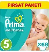 Prima Bebek Bezi No 5 Beden (11 18 Kg) 68 Adet Fırsat Paketi