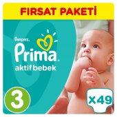 Prima Bebek Bezi No 3 Beden (5 9 Kg) 49 Adet Fırsat Paketi