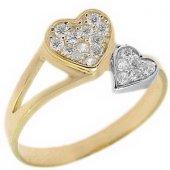Goldstore 14 Ayar Altın Kalp Yüzük Grf9789