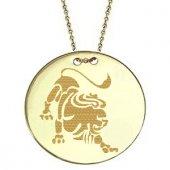 Goldstore 14 Ayar Altın Aslan Burcu Madalyon Kolye Gp21073