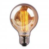 Vialicht 2w(20w) Led Rustik Deco G95 Ampul E27 2000k Gold