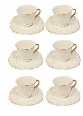 Kahve Fincan Takımı Yaldızlı Beyaz