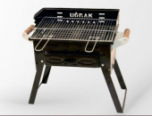 Kömürlü Emaye Mangal Piknik Barbekü Fırınlı Katlanır Ayaklı Çift Izgaralı Pervazlı