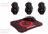 Everest Sgm X7 Usb Siyah Gaming Mouse Pad Ve Oyuncu Mouse