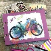 Bisiklet Temalı Kendin Tasarla Fotoğraf Albümü Ve Defter