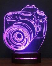 3d Fotoğraf Makinesi 16 Renk Ledli Gece Lambası