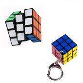 Rubik Puzzle Yapboz İkisi Bir Arada Rubiks Zeka Sabır Küpü