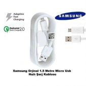 Samsung Galaxy S6 Edge Hızlı Şarj Kablosu Micro Usb Şarj Data Tra