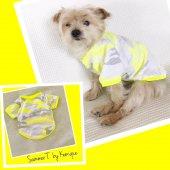 Fosforlu Sarı Oval Yaka Tişört Summer T By Kemique Köpek Kı