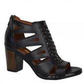 Moda Fermuarlı 7 Cm Topuk Yazlık Günlük Bayan Sandalet Ayakkabı
