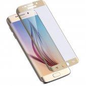 Samsung Galaxy S6 Edge Plus Kavisli Kırılmaz Cam Tam Kaplama Ka