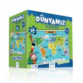 Dünyamız Eğitici Puzzle 24 Parça 50x70 Cm