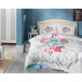 Cotton Box Vanessa Mavi 3d Çift Kişilik Nevresim Takımı