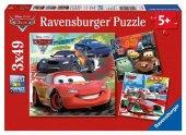 3x49 Parça Puzzle Ravensburger Cars 2