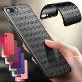 Iphone 7 Plus Kılıf Hasır Air Vent Silikon