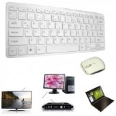 Kingboss Kablosuz Klavye Q Türkçe + Mouse Set Tv Pc Notebook