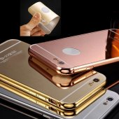 Iphone 7 Kılıf Metal Bumper Aynalı Sürgülü Alüminyum Çerçeve