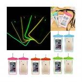 Su Geçirmez Telefon Kılıfı Su Altında Parlar 5 Renk